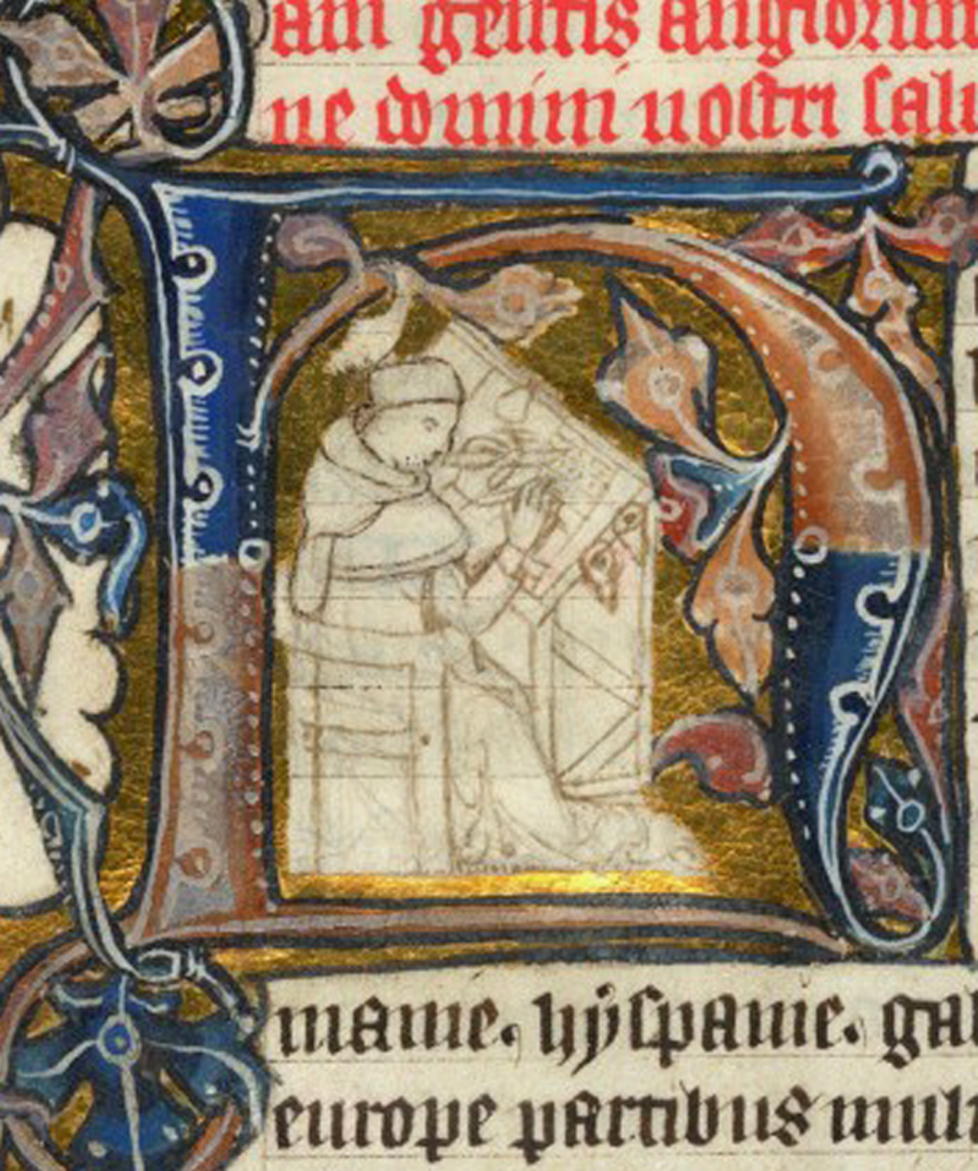 medieval image of the venerable bede