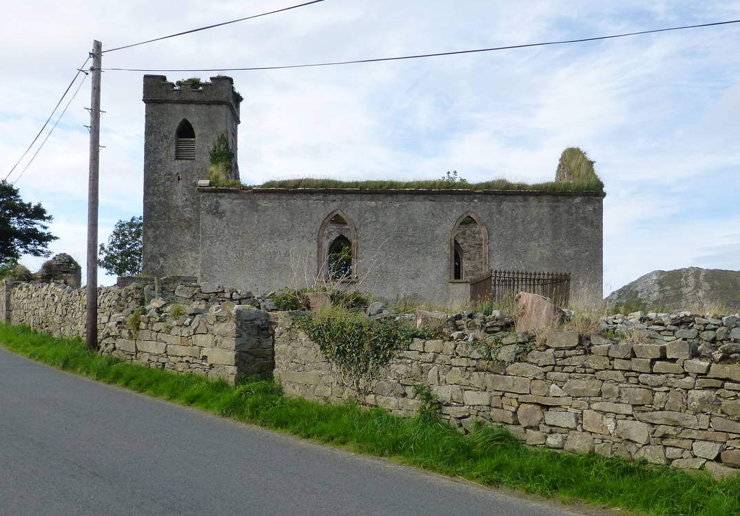 The old St. Columba's church at Straid, County Donegal.