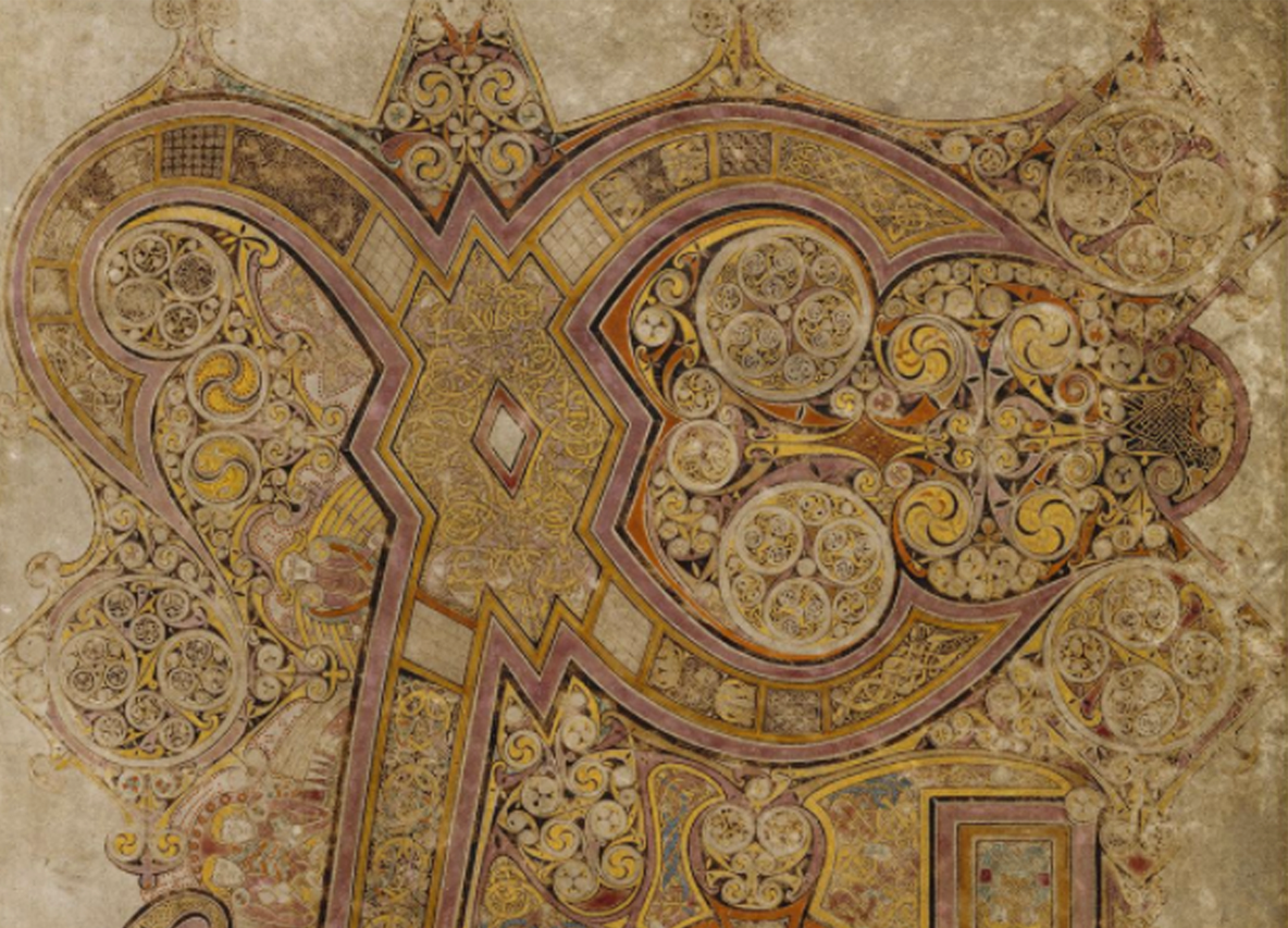part page, book of kells folio 34r, the chi rho page